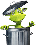 Binny - the Devon Waste Clearance mascot