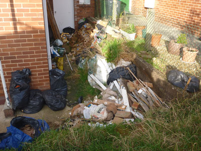 bricks rubble clearance before