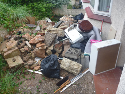 builders and mixed waste before