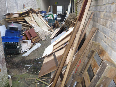 builders waste clearance before