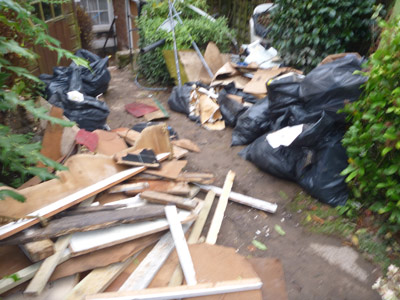 building waste clearance before